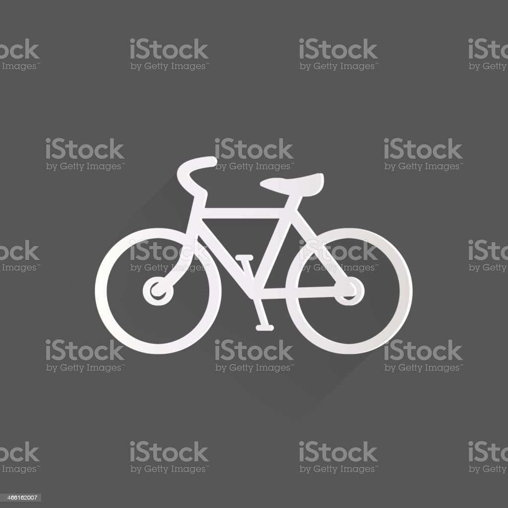 Hipster retro bicycle icon vector art illustration