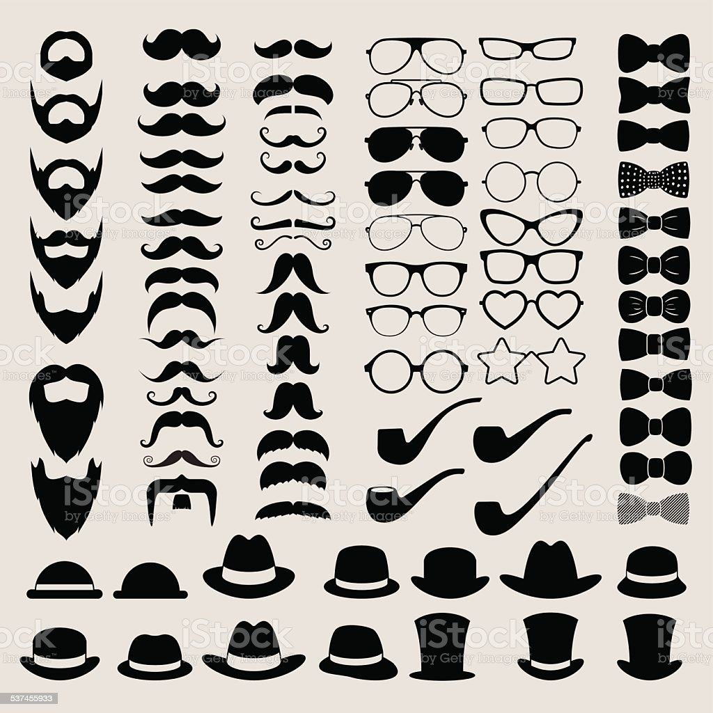 Hipster style infographics elements and icons set for retro desi vector art illustration