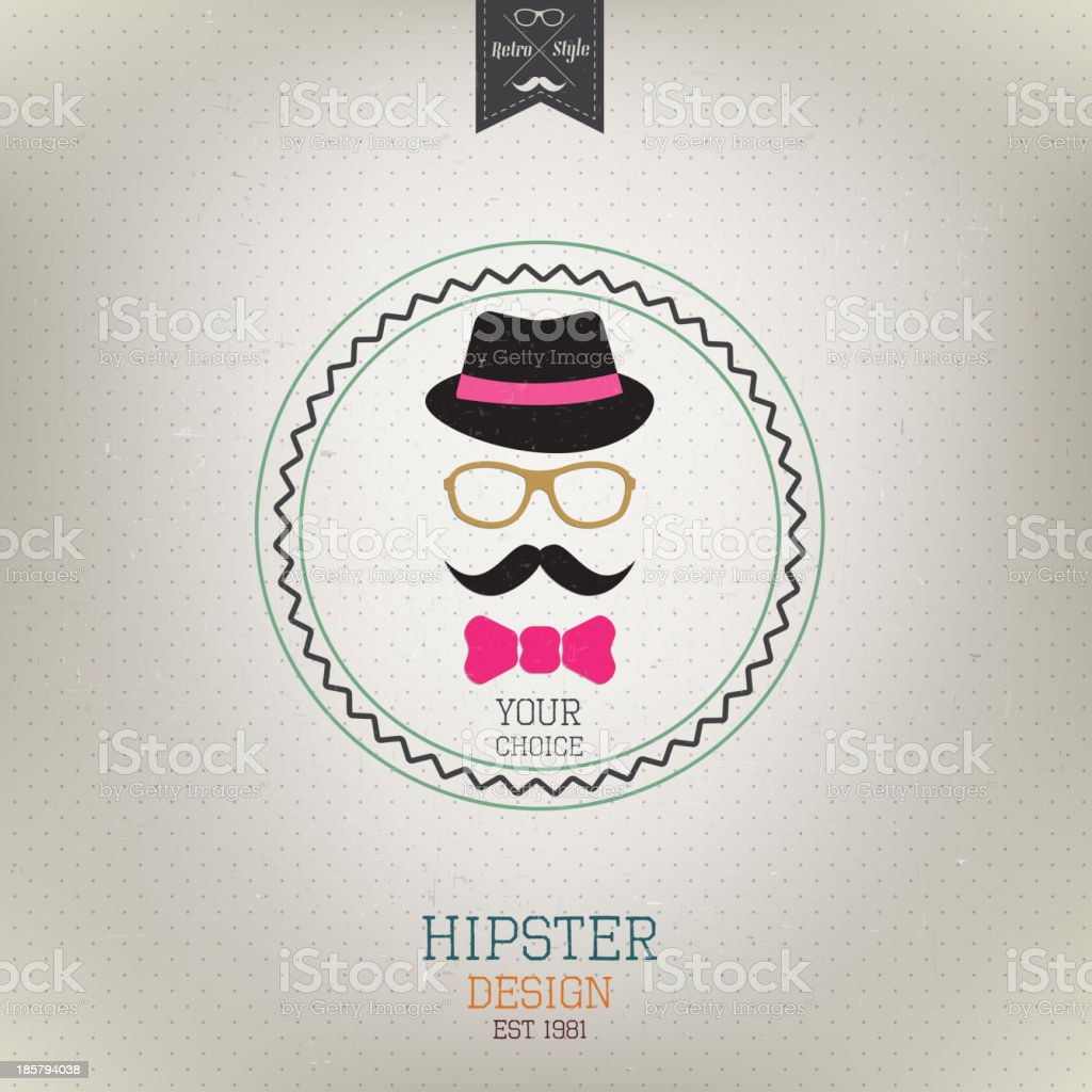 Hipster style. Retro poster. Vector royalty-free stock vector art