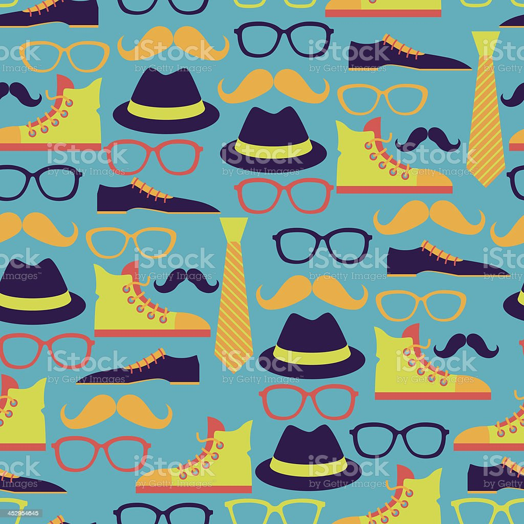 Hipster style seamless pattern. royalty-free stock vector art
