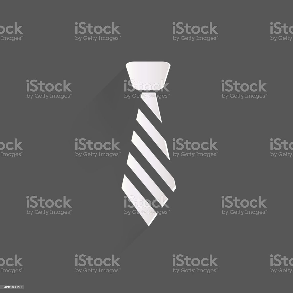 Hipster tie icon vector art illustration