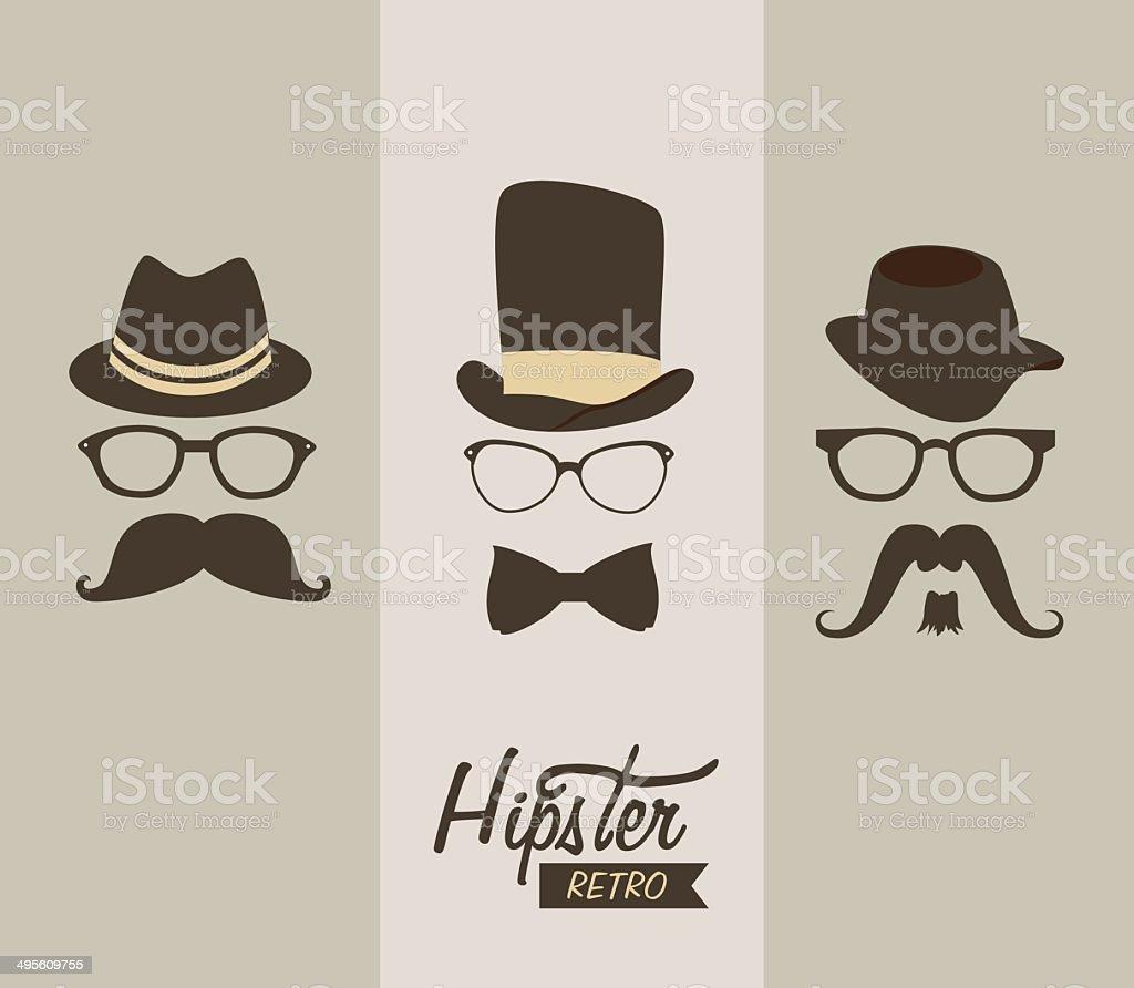 hipster vector art illustration