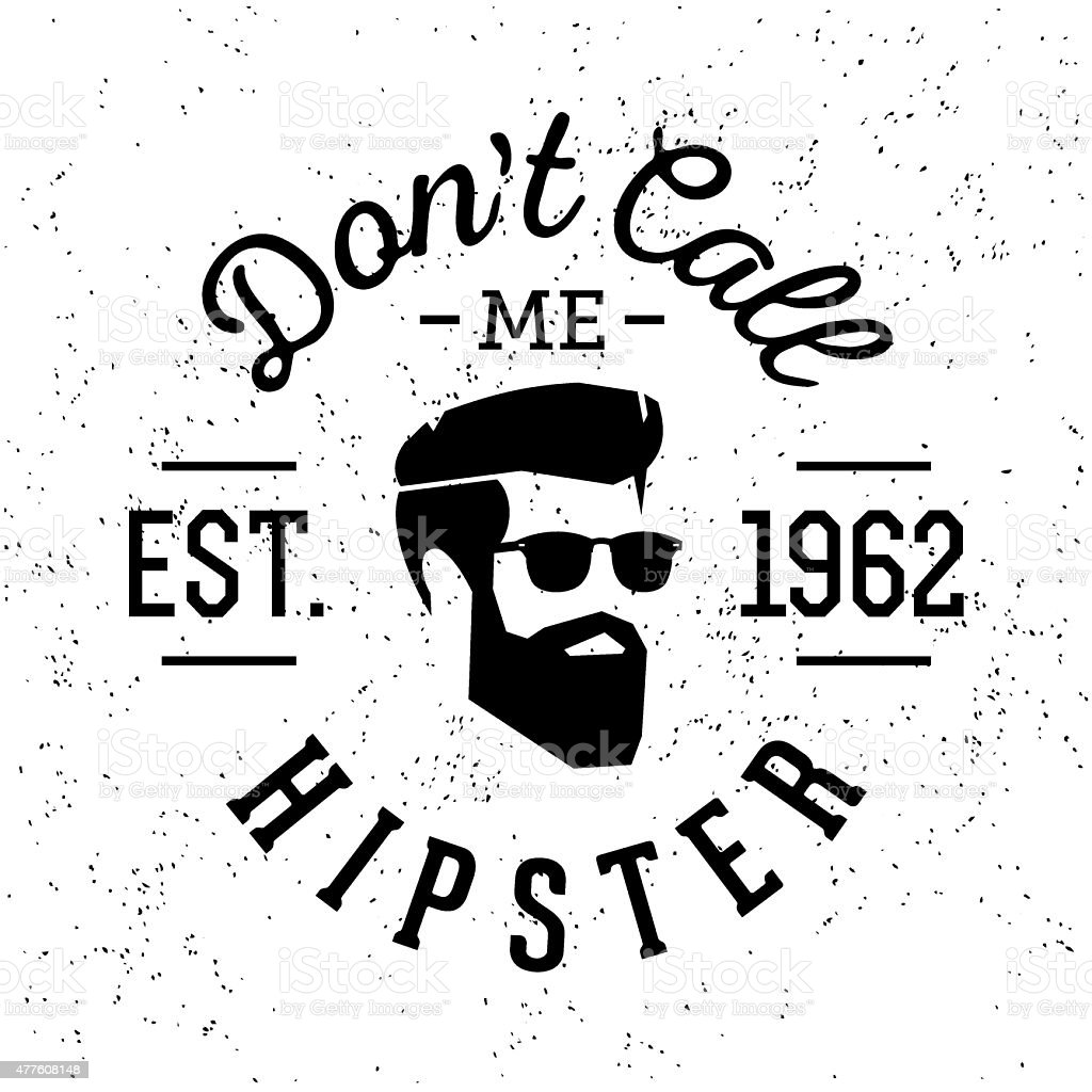hipster vintage label vector art illustration