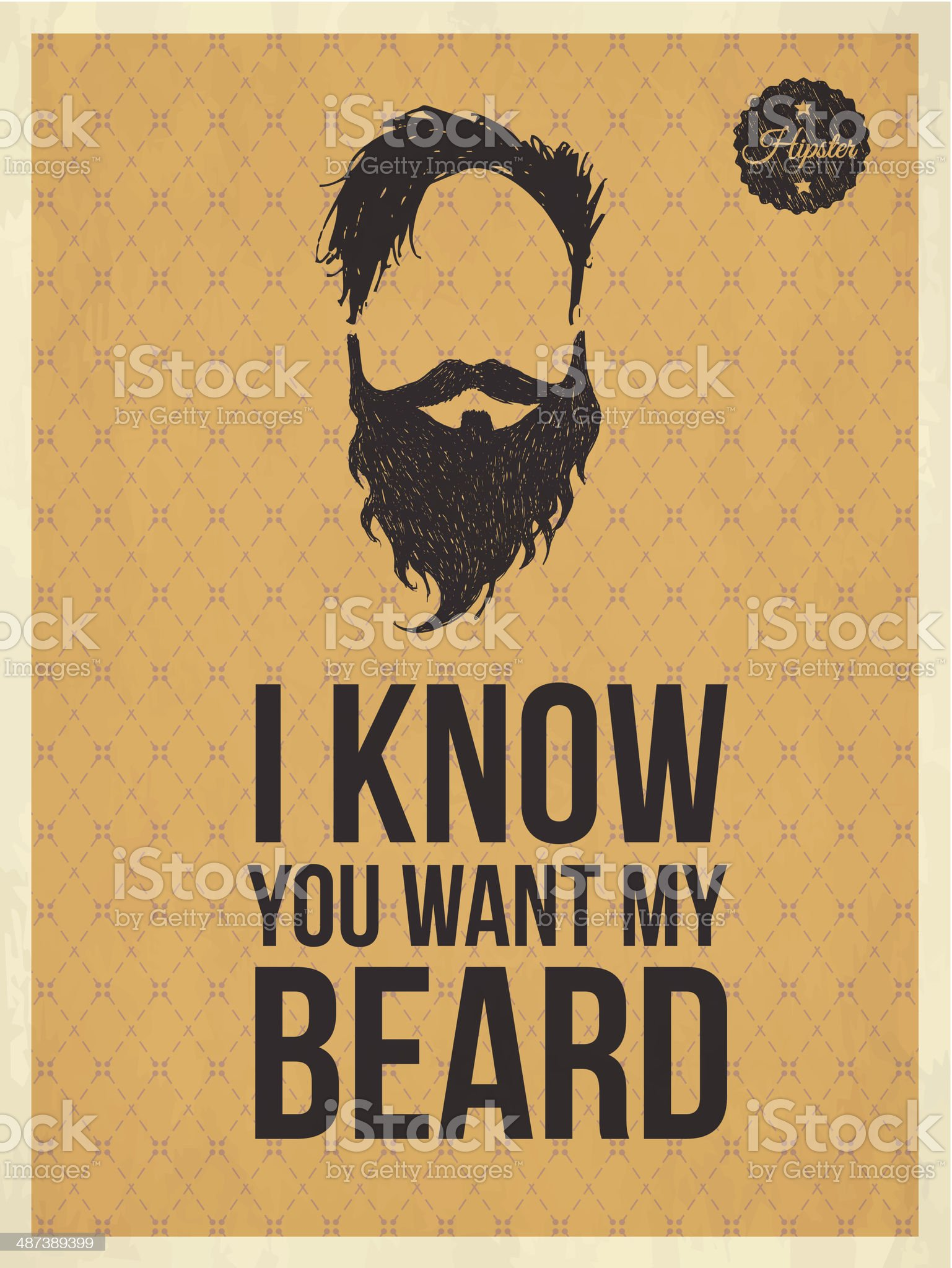 Hipster vintage trendy look quotes royalty-free stock vector art