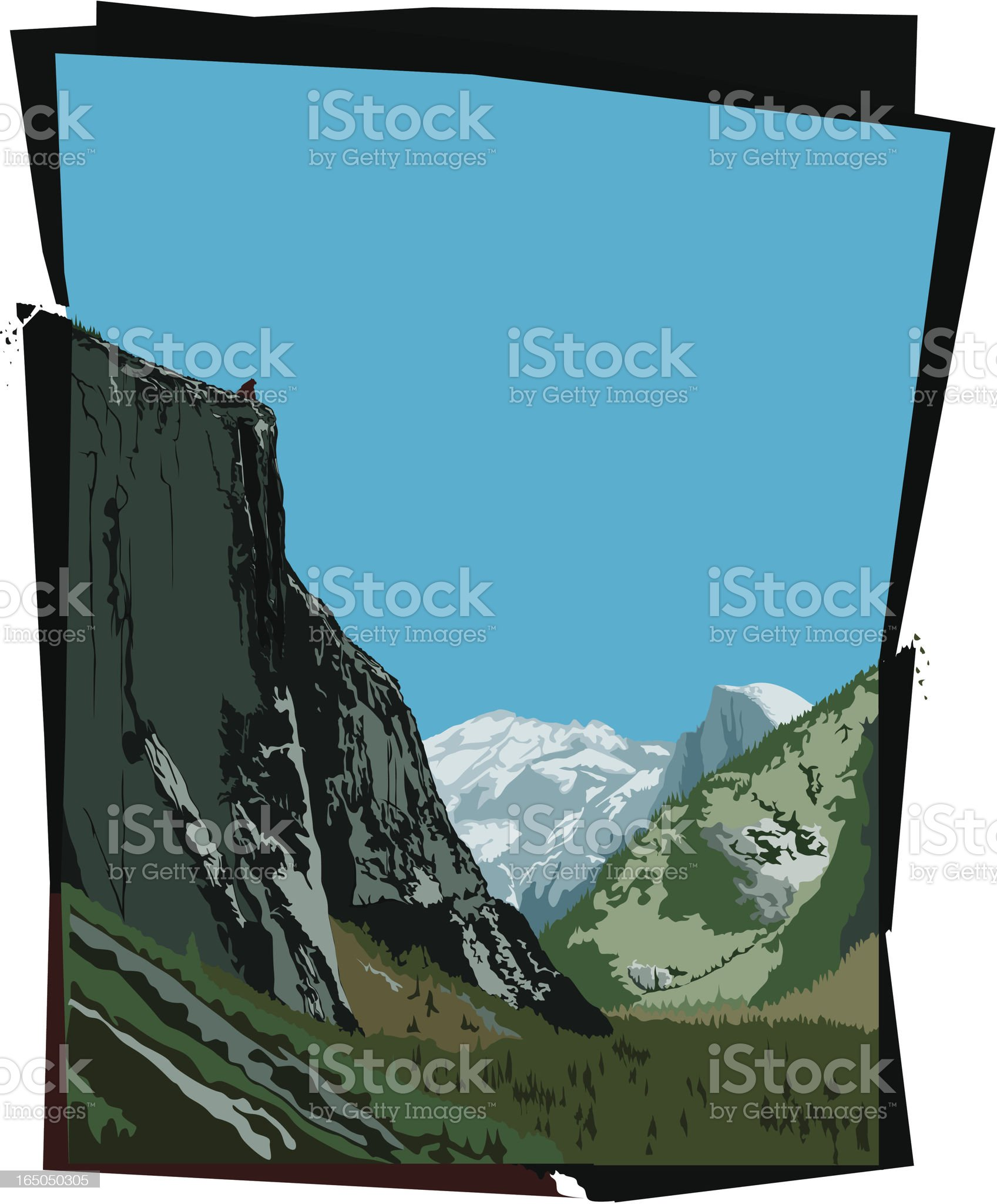 His Home  ? Half Dome Yosemite ? royalty-free stock vector art
