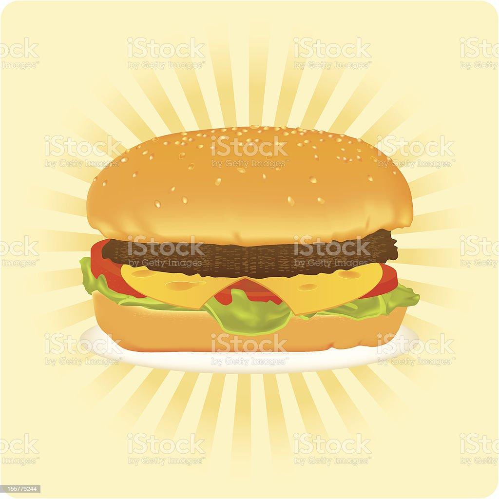 His majesty cheeseburger royalty-free stock vector art