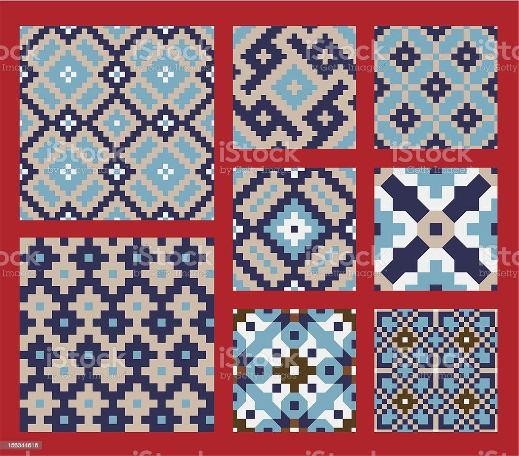 Hisar Seamless Patterns Set royalty-free stock vector art