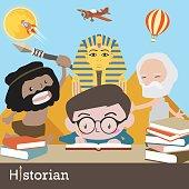historian occupation vector