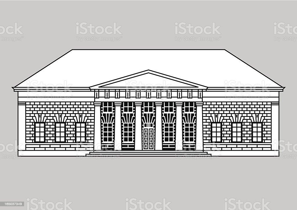 historic building vector art illustration