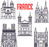 Historic buildings and sightseeings of France