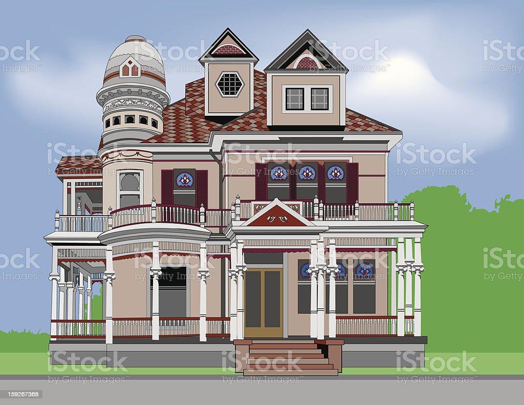 Historic Home #2 vector art illustration
