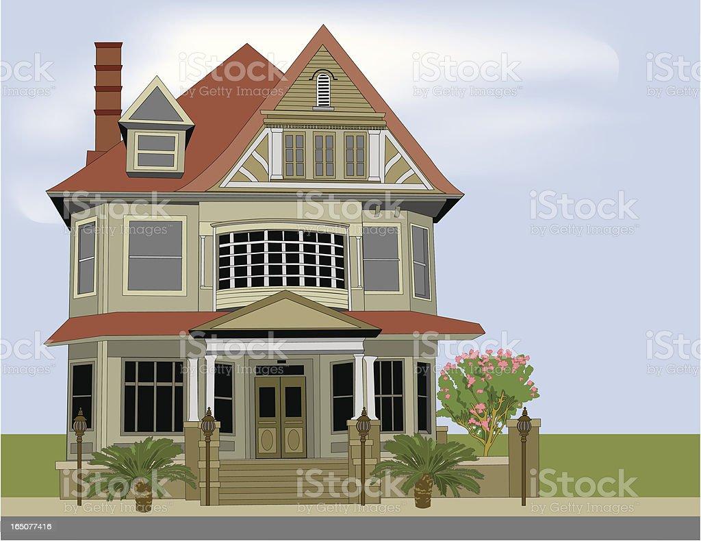 Historic Home vector art illustration
