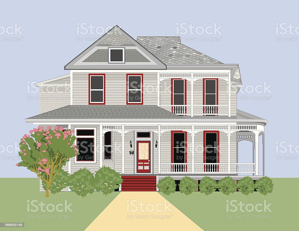 Historic Home #4 vector art illustration