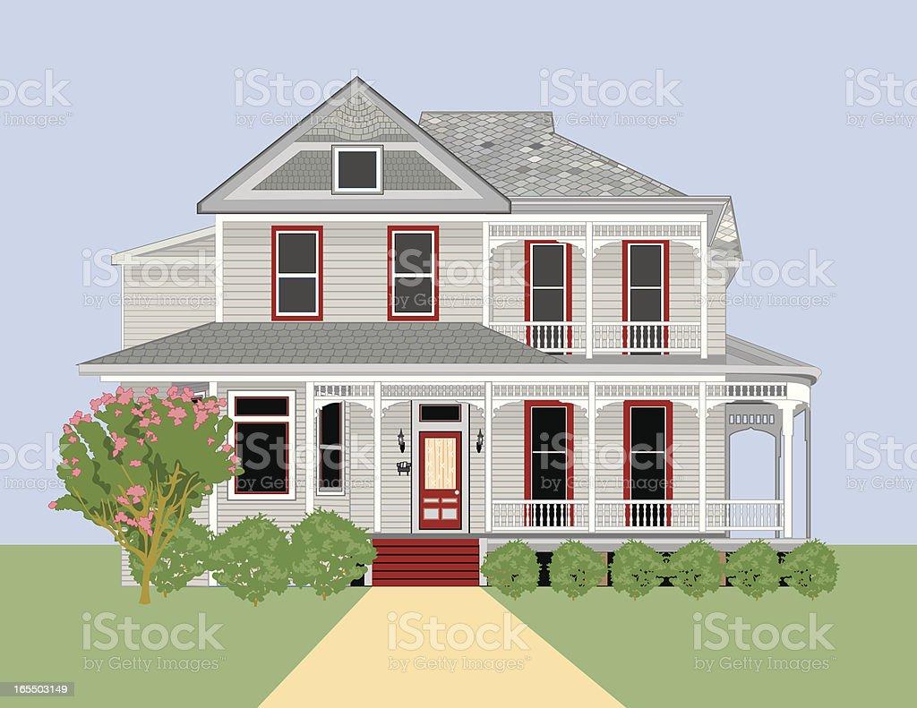 Historic Home #4 vector art illustration