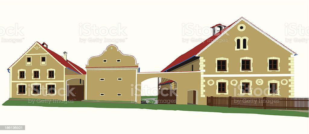 historic houses illustration royalty-free stock vector art
