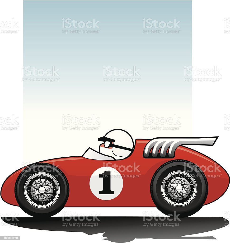 Historic Racer vector art illustration