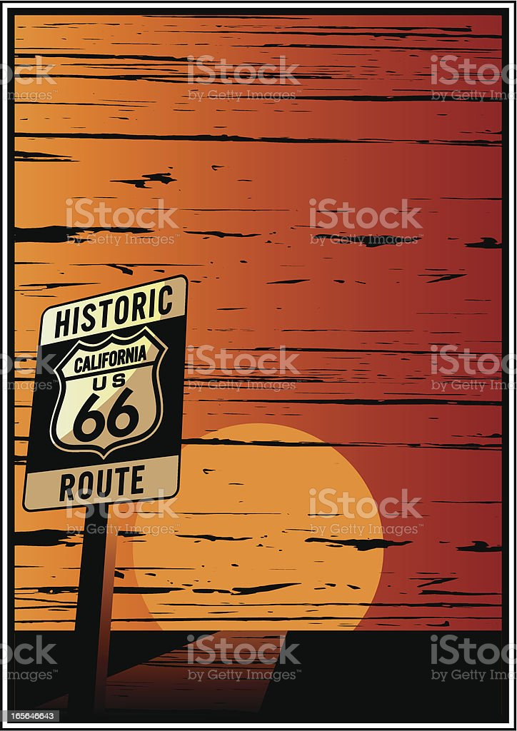 historic route frame royalty-free stock vector art