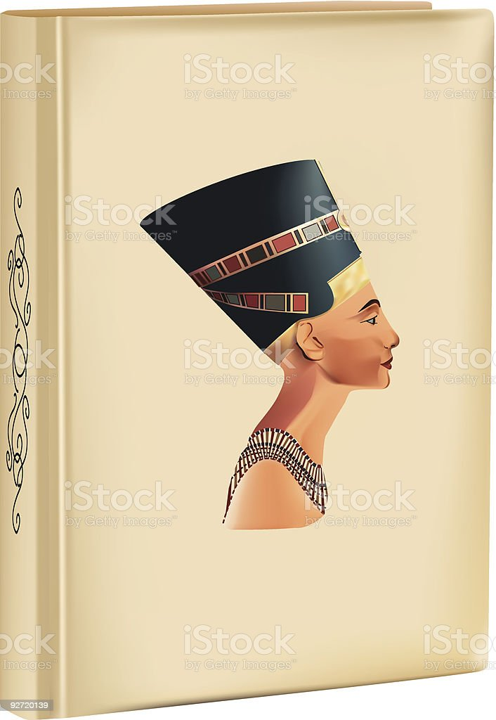 history of Nefertiti vector art illustration