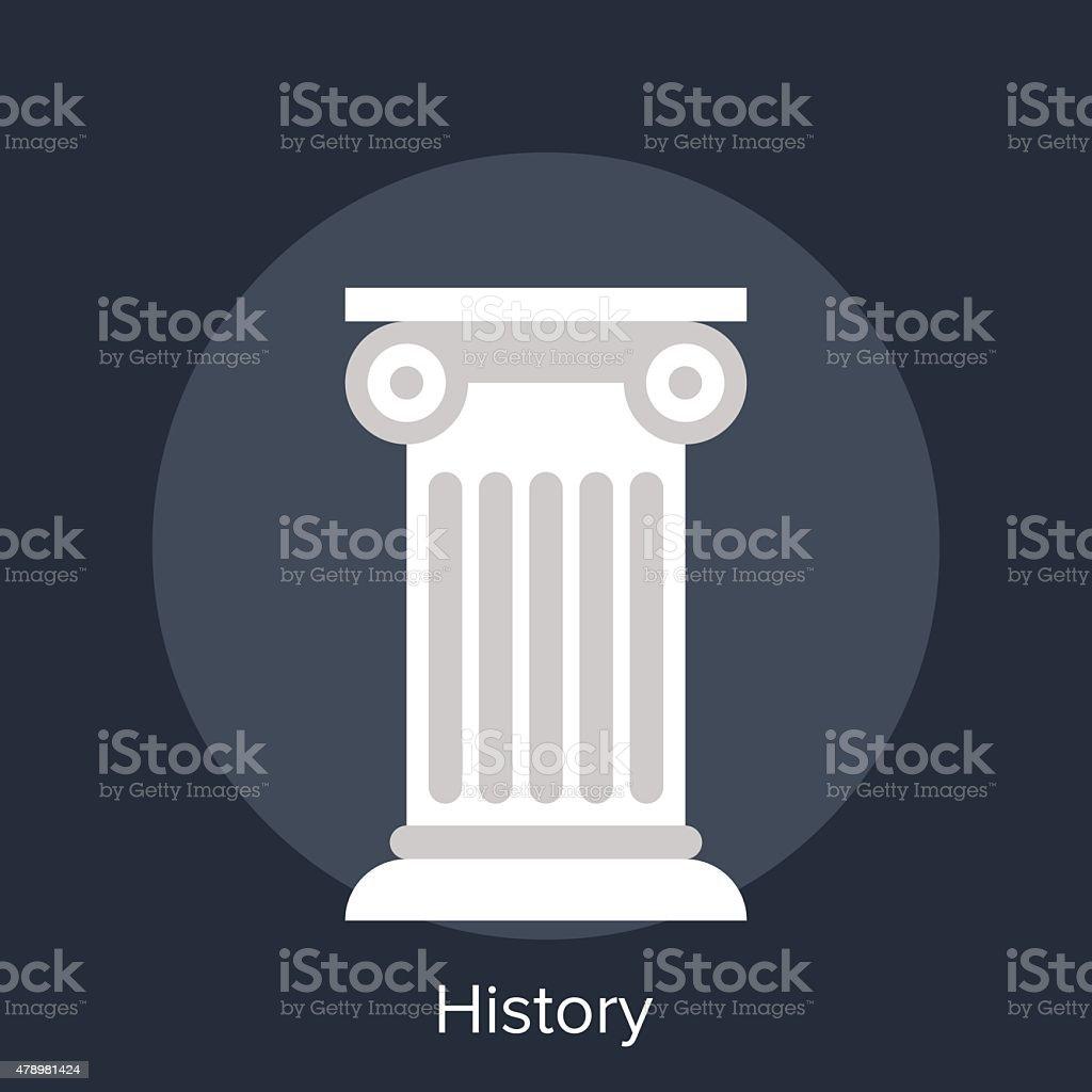 history vector art illustration