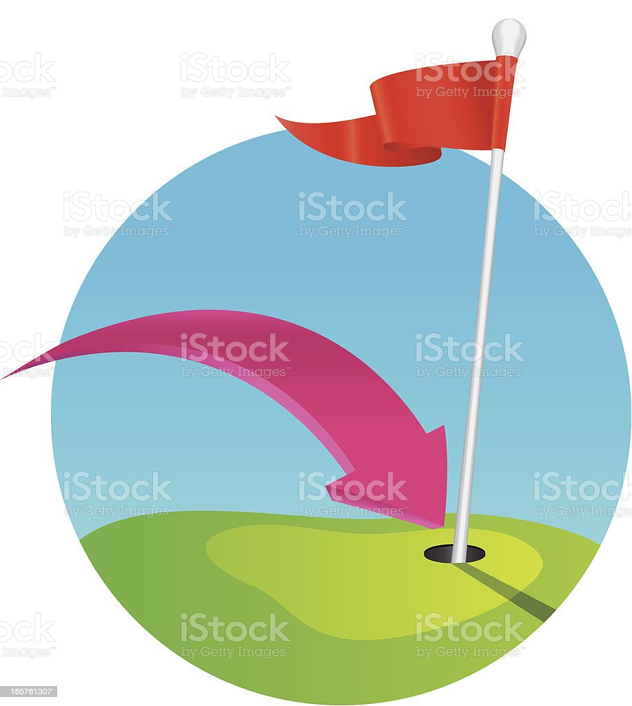 Hit a hole in one royalty-free stock vector art