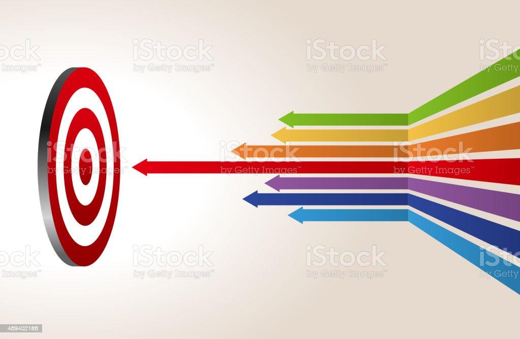 Hit the target vector art illustration