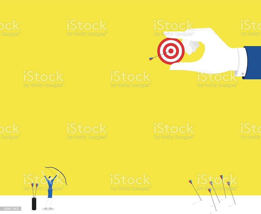Hit! vector art illustration