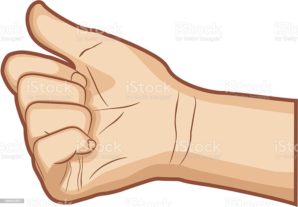 Hitchhiking Hand Gesture vector art illustration