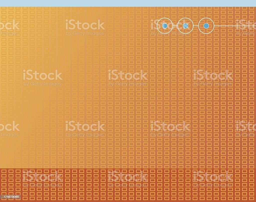 Hi-tech background - orange royalty-free stock vector art
