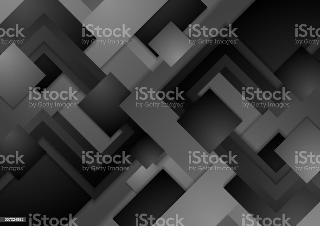 Hi-tech dark grey corporate abstract background vector art illustration