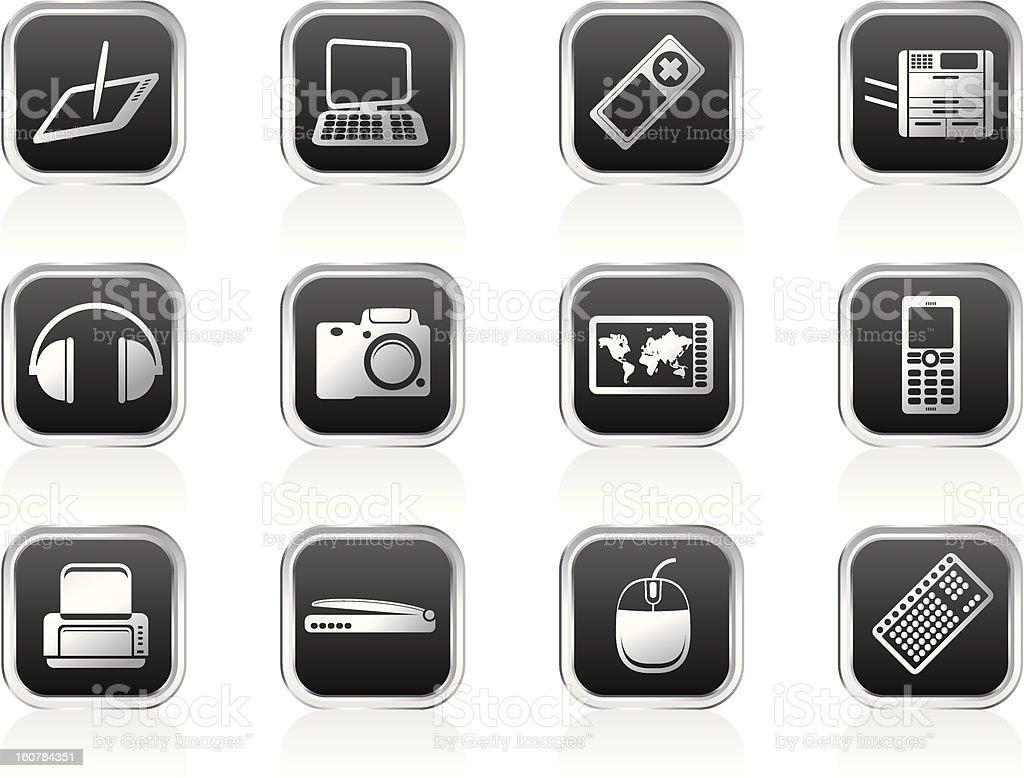 Hi-tech technical equipment icons royalty-free stock photo