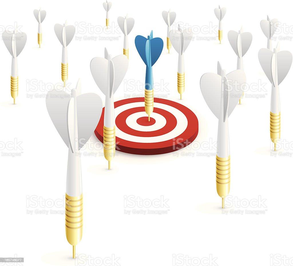 Hitting target vector art illustration