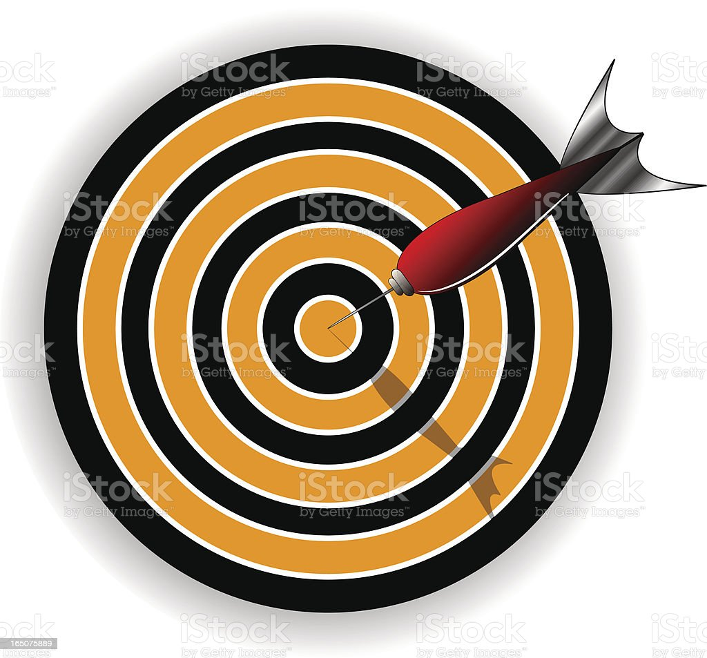 Hitting The Target Concept royalty-free stock vector art