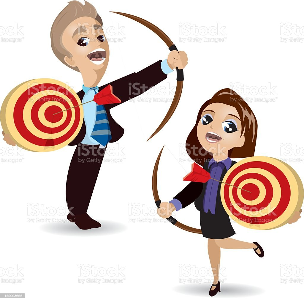 Hitting the Target royalty-free stock photo