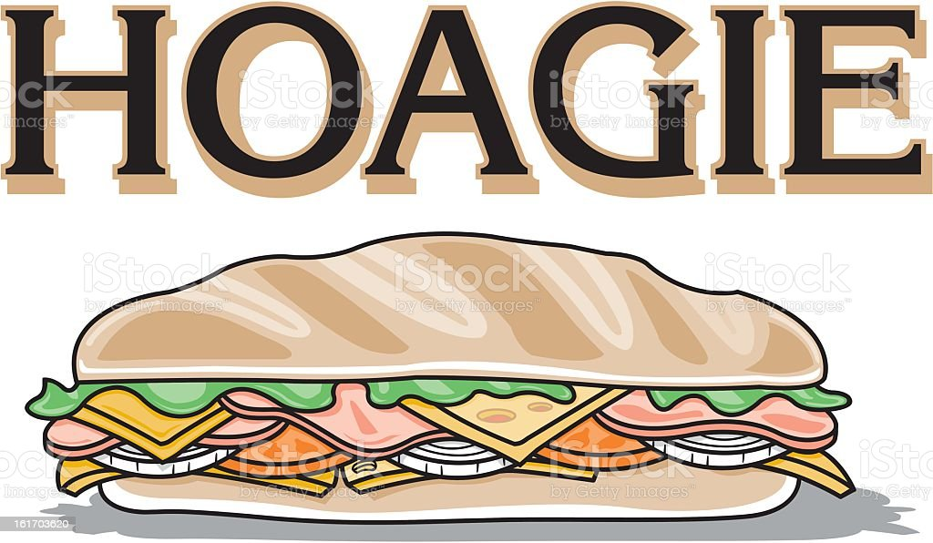 Hoagie Sandwich royalty-free stock vector art