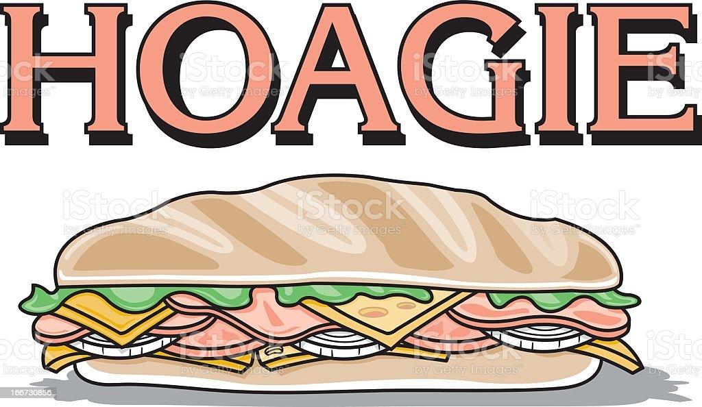 Hoagie Sandwich royalty-free stock vector art