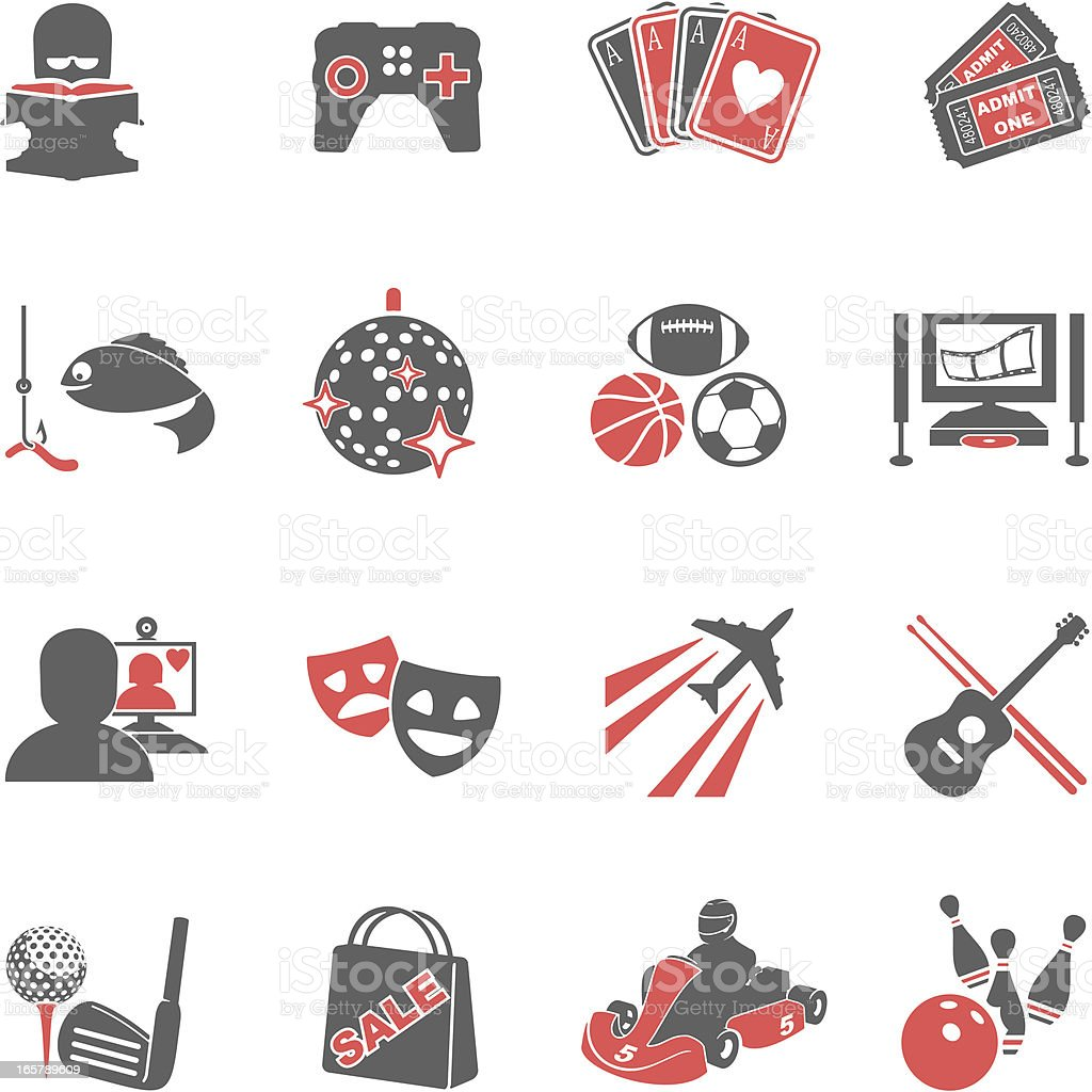 Hobbies Icons vector art illustration
