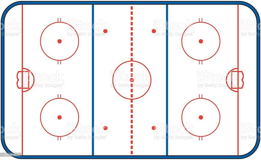 Hockey Arena royalty-free stock vector art