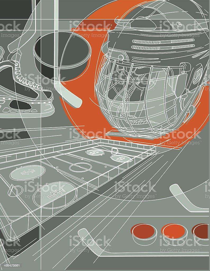 Hockey Background royalty-free stock vector art
