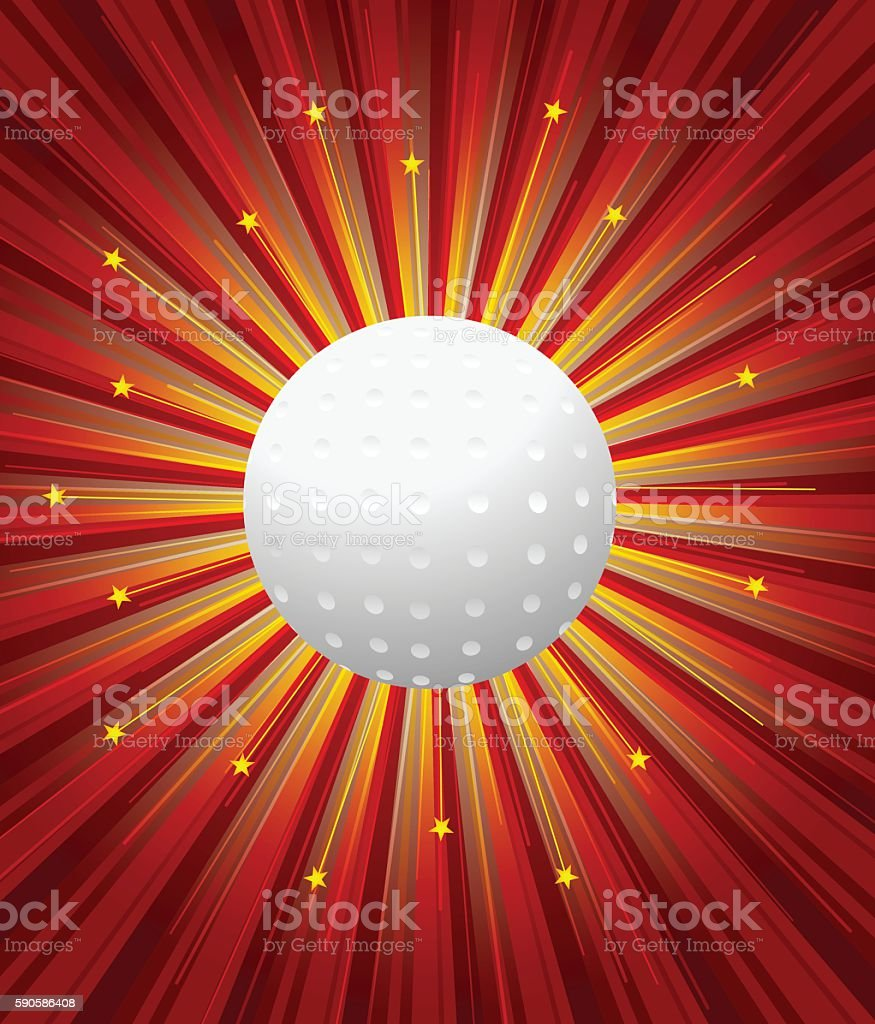 Hockey Ball With Background vector art illustration