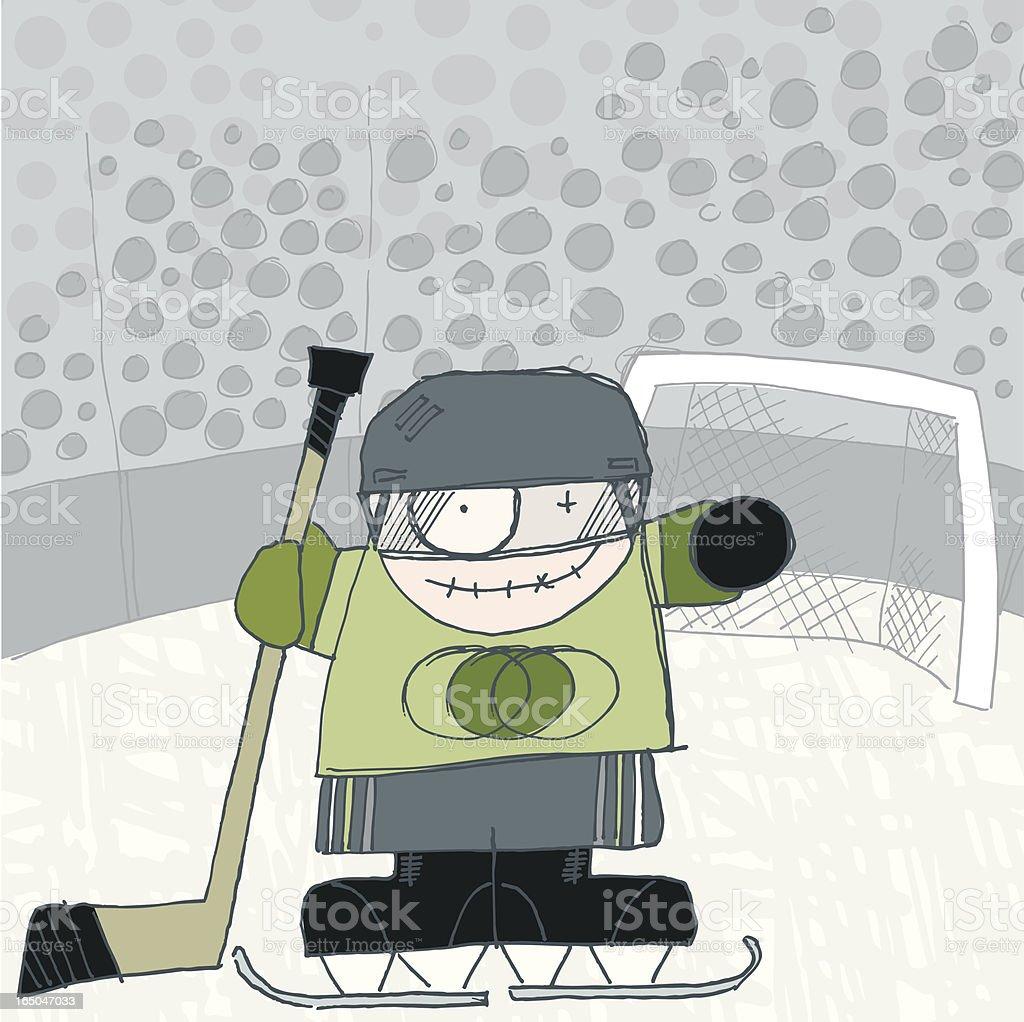 hockey boy royalty-free stock vector art