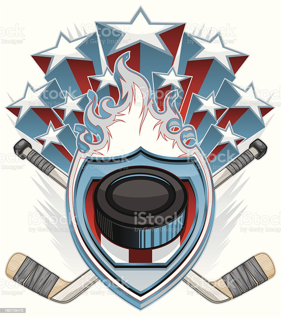 Hockey Design royalty-free stock vector art