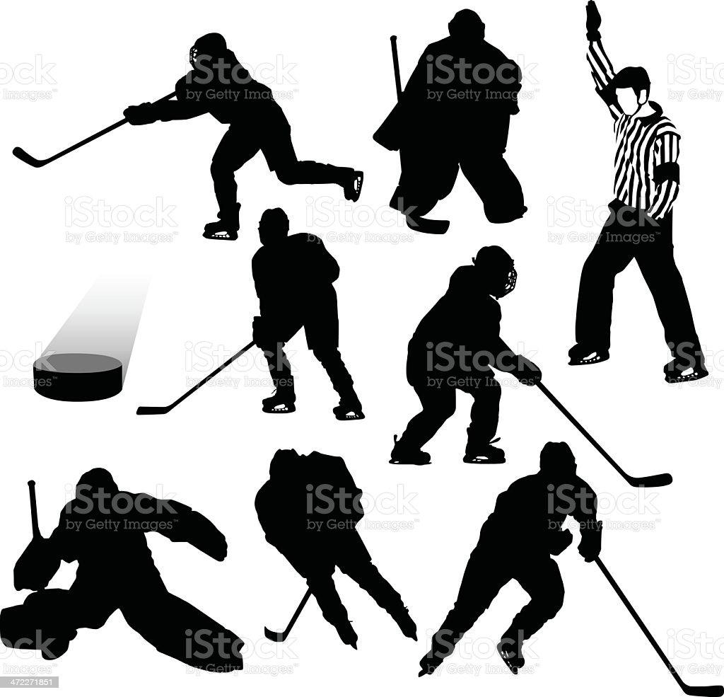 Hockey Elements vector art illustration