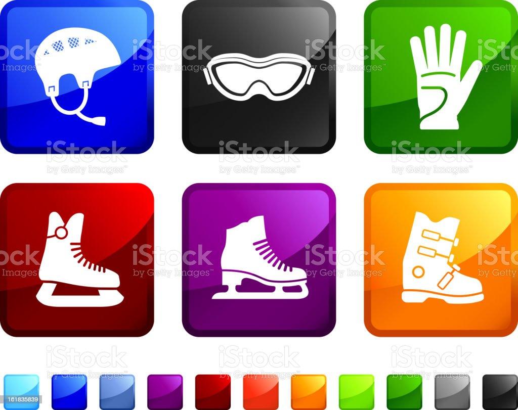 Hockey Equipment royalty free vector icon set royalty-free stock vector art