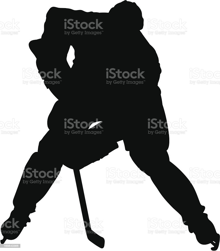 Hockey Face off silhouette royalty-free stock vector art