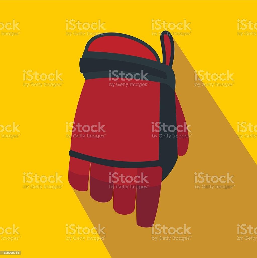 Hockey glove flat icon vector art illustration