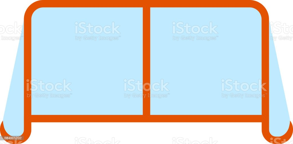 Hockey goal vector illustration. vector art illustration