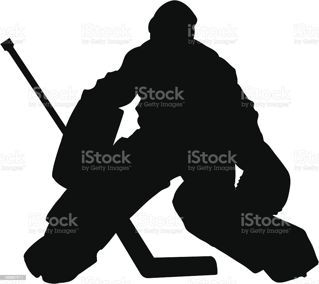 Hockey Goalie Slhouette royalty-free stock vector art