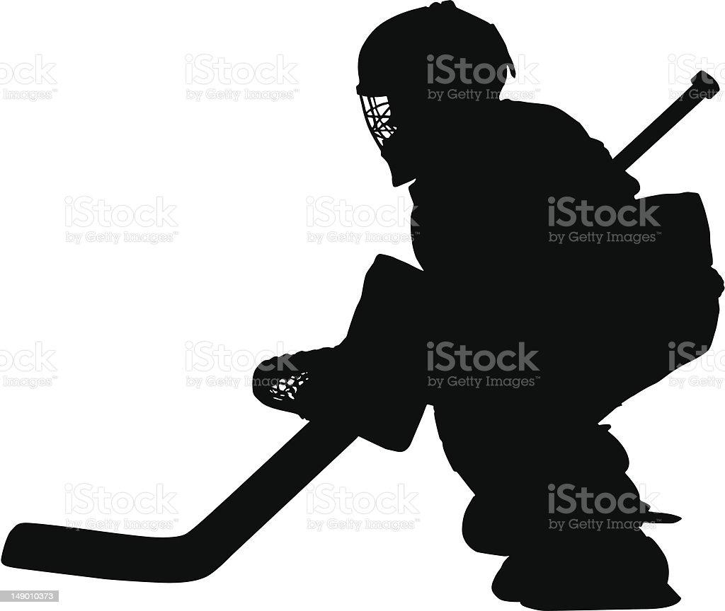 Hockey Goalie royalty-free stock vector art