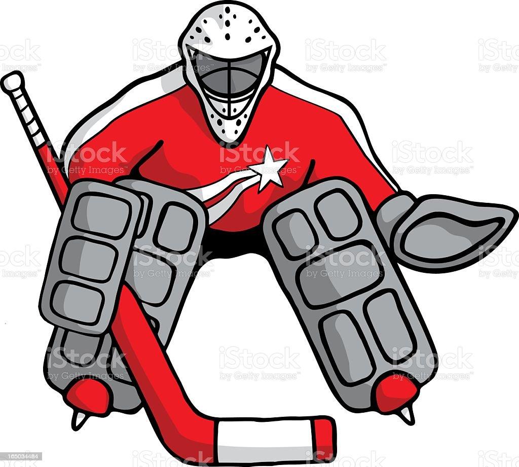 Hockey Goalie vector art illustration