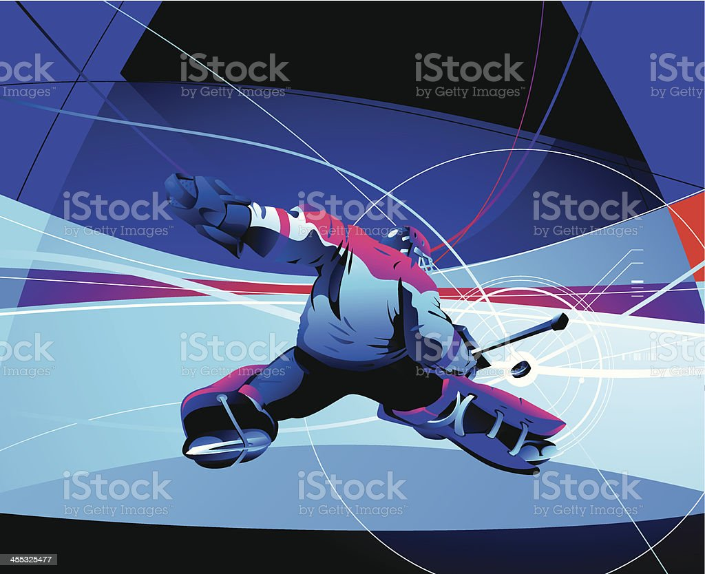 Hockey Goalie royalty-free stock vector art